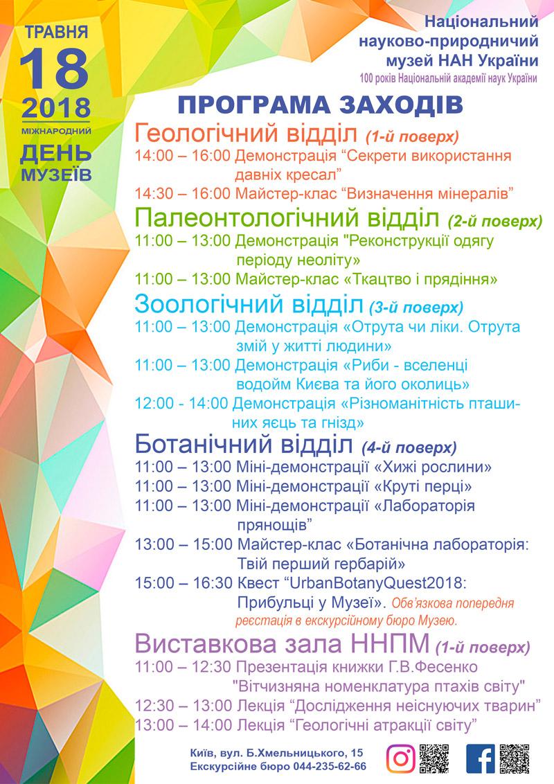 НАН України : Національний науково-природничий музей НАН України запрошує усіх охочих відсвяткувати Міжнародний день музеїв разом